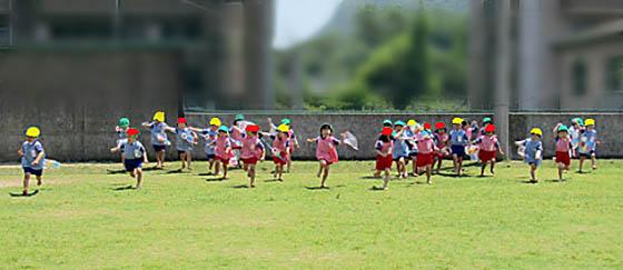 幼稚園の運動場
